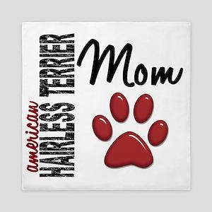 D American Hairless Terrier Mom 2 Queen Duvet
