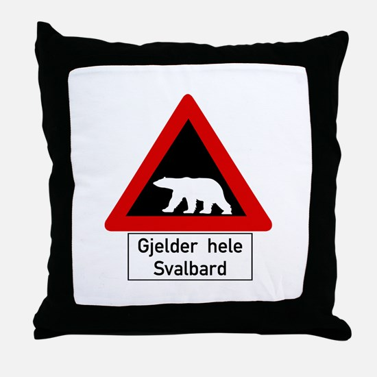 Polar Bear, Svalbard - Norway Throw Pillow