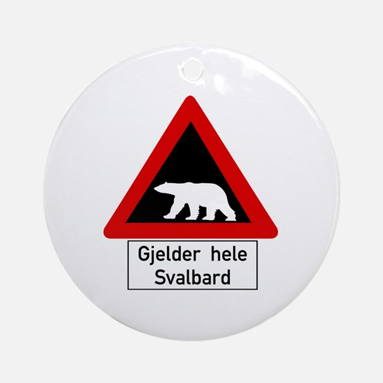 Polar Bear, Svalbard - Norway Ornament (Round)