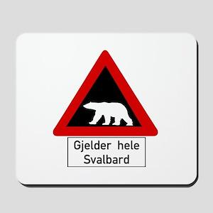 Polar Bear, Svalbard - Norway Mousepad