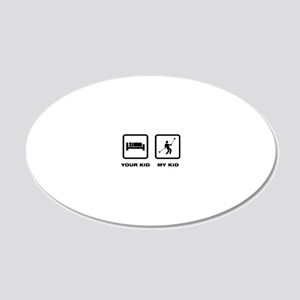 Yoyo-Player-ABJ1 20x12 Oval Wall Decal