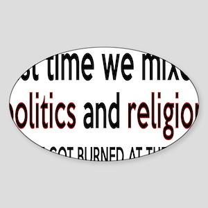 politicsrectangle Sticker (Oval)