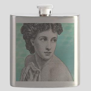 Seductress Blue Shower Curtain Flask