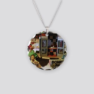 Donners Diner Dude Necklace Circle Charm