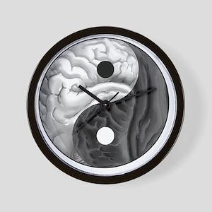 Yin Yang Brain Wall Clock