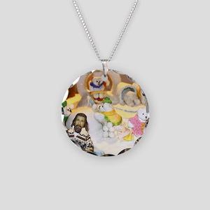 Little Lebowski Holiday Necklace Circle Charm