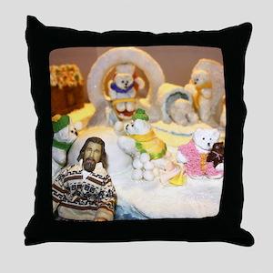 Little Lebowski Holiday Throw Pillow