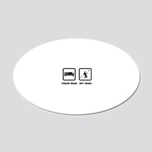 Yoyo-Player-ABK1 20x12 Oval Wall Decal