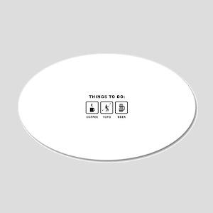 Yoyo-Player-ABH1 20x12 Oval Wall Decal