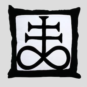 Satanic Cross Throw Pillow