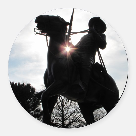 Buffalo Soldier Round Car Magnet