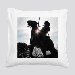 Buffalo Soldier Square Canvas Pillow
