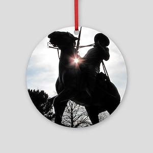 Buffalo Soldier Round Ornament