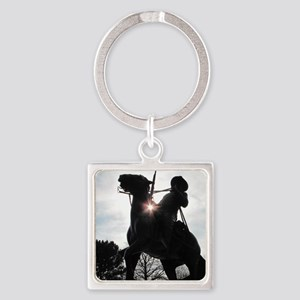 Buffalo Soldier Square Keychain