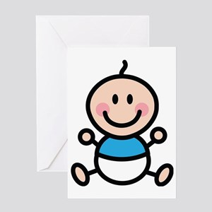 Baby Stick Figure Greeting Card