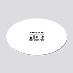 Curling-ABH1 20x12 Oval Wall Decal