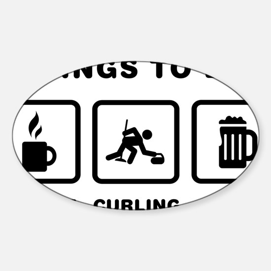 Curling-ABH1 Sticker (Oval)