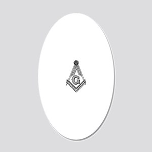 Masonic 20x12 Oval Wall Decal