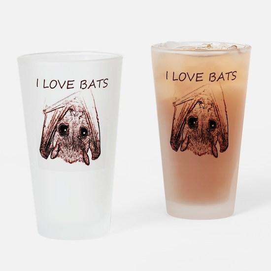 I LOVE BATS Drinking Glass