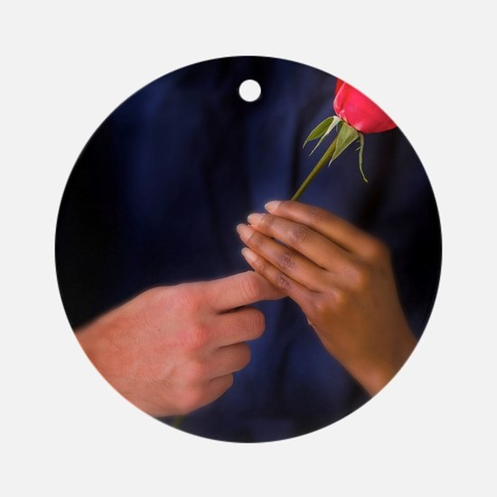 The Rose Exchange Round Ornament
