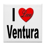 I Love Ventura Tile Coaster