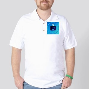 Circle Dark Fancy Dreidel Golf Shirt