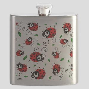 Cute Ladybug pattern Flask