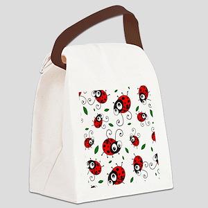 Cute Ladybug pattern Canvas Lunch Bag