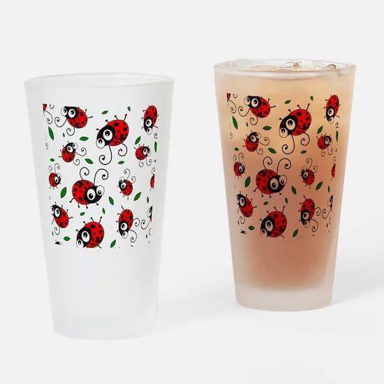 Cute Ladybug pattern Drinking Glass