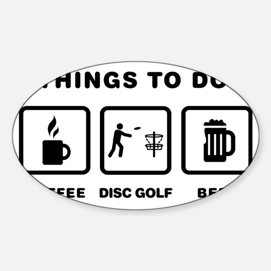 Disk-Golf-ABH1 Sticker (Oval)