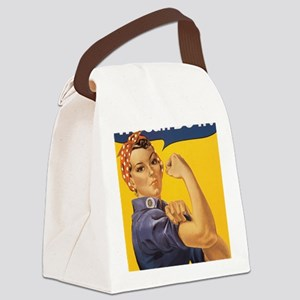 Rosie The Riverter Canvas Lunch Bag