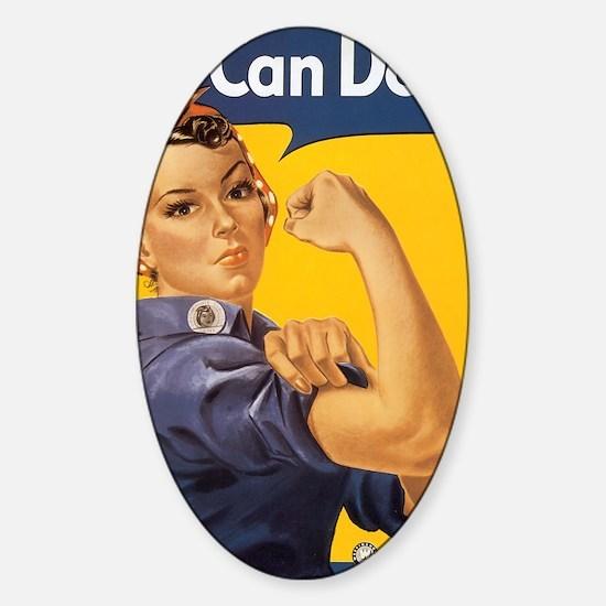 Rosie The Riverter Sticker (Oval)