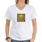 Celtic Letter W Women's V-Neck T-Shirt