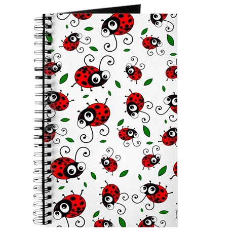 Cute Ladybug pattern Journal