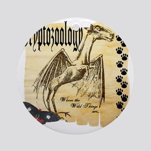 Cryptozoology Where The Wild Things Round Ornament
