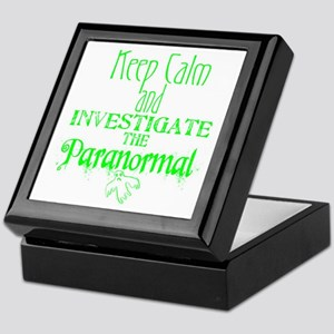 Keep Calm Paranormal Investigator Keepsake Box