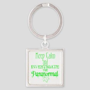 Keep Calm Paranormal Investigator Square Keychain