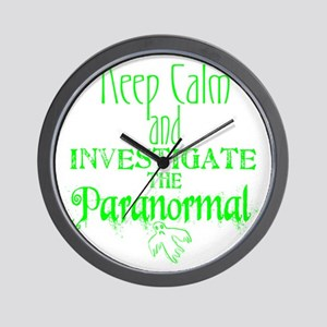 Keep Calm Paranormal Investigator Wall Clock