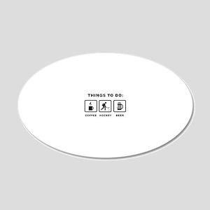 Ice-Hockey-ABH1 20x12 Oval Wall Decal