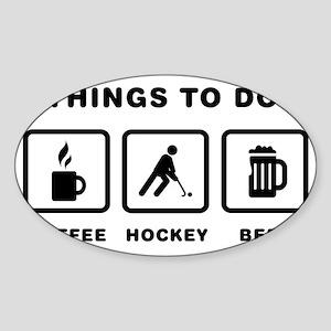Field-Hockey-ABH1 Sticker (Oval)