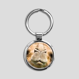 Dromedary camel Round Keychain