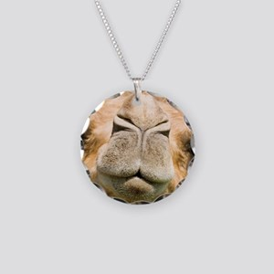 Dromedary camel Necklace Circle Charm