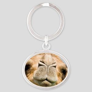 Dromedary camel Oval Keychain
