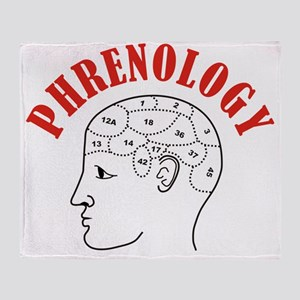 Phrenology head chart Throw Blanket