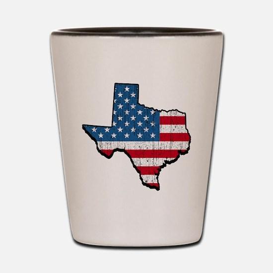 Texas USA American Flag Shot Glass