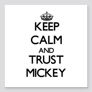 """Keep Calm and TRUST Mickey Square Car Magnet 3"""" x"""