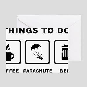 Parachuting-ABH1 Greeting Card