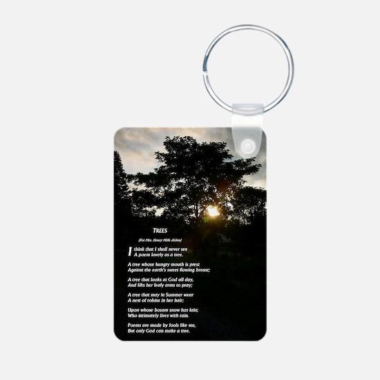 Trees by Joyce Kilmer Keychains