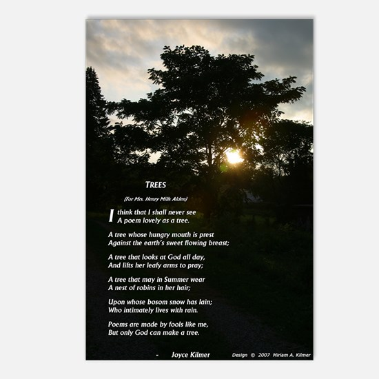 Trees by Joyce Kilmer Postcards (Package of 8)