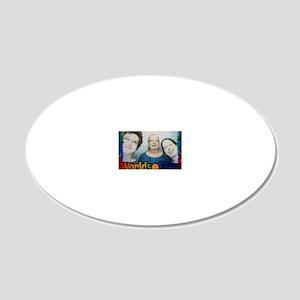 Aidan Bernadette Steph 20x12 Oval Wall Decal